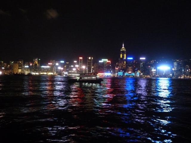 O skyline da cidade, da Avenue of Stars, em Kowloon