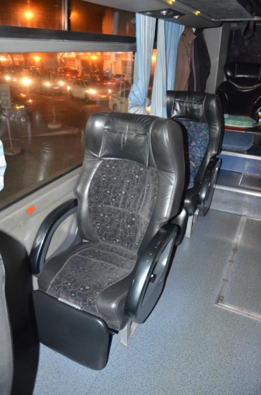 O ônibus (super confortável)