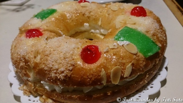 Roscón de Reyes com Nata
