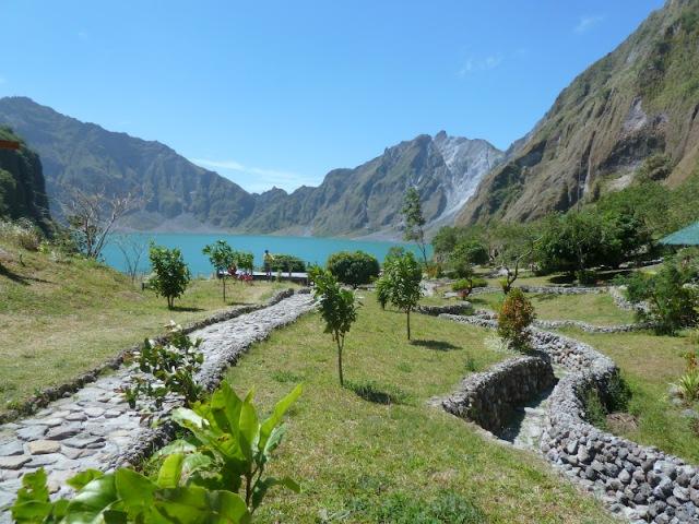 A primeira visão do Lago Pinatubo